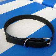 Hundehalsband schwarz aus 19mm breitem BioThane Material