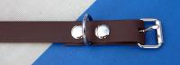 Hundehalsband braun aus 16mm breitem BioThane Material