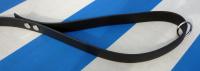Hundeleine schwarz aus 19mm breitem BioThane Material