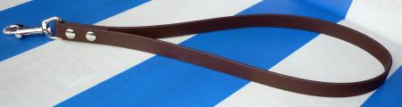 Kurzführer 25cm bis 60cm braun aus 16mm breitem BioThane Material